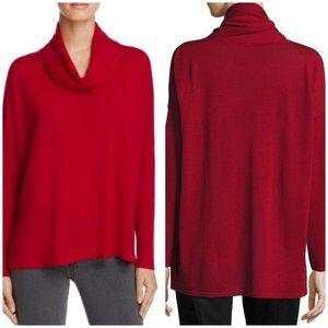 NWT Eileen Fisher Merino Wool Cowl Box-Top Sweater